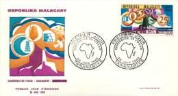 1966 Conférence De L'OCAM  FDC - Madagascar (1960-...)