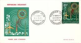 1963 Union Africaine Et Malgache Des Postes Et Télécommunications FDC - Madagascar (1960-...)