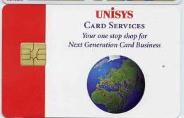 CARTE A PUCE UNISYS CARD SERVICES - Télécartes