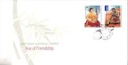 Australia 2011 Korea Joint Issue FDC - Premiers Jours (FDC)