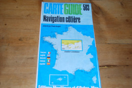 Carte Marine Carte Guide 503 De C. Vergnot, Navigation Côtière Toulon Cavalaire, Editions Maritimes Et D'Outre-mer 1975 - Cartes Marines
