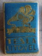 Nikola TESLA Company Czechoslovakia Electronic Industry Litovel Pin Badge - Trademarks