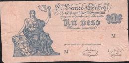 ARGENTINA  P262  1  PESO  1951   AVF NO P.h. ! - Argentine