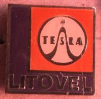 Nikola TESLA Company Czechoslovakia Electronic Industry Litovel Pin Badge - Marcas Registradas
