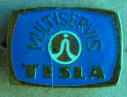 Nikola TESLA Company Czechoslovakia Electronic Industry Multiservis Pin Badge - Markennamen
