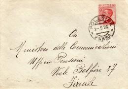 1926   LETTERA CON ANNULLO  POLESINE PARMA - Marcophilia