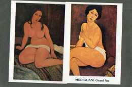 MODIGLIANI  2 CPM    GRAND NU   NU ASSIS - Peintures & Tableaux