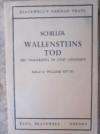 SCHILLER WALLENSTEINS TOD William WITTE Edited By BLACKWELL'S GERMAN TEXTS OXFORD Notes English Anglais - Livres, BD, Revues