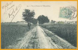 92 Cpa65 Villacoublay, La Route Et Le Village En 1903, Ecrite, Qualité **** - Francia