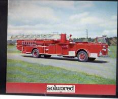 """Pompier / Publicité Pharmaceutique """" Solupred """" / Voiture Grande Echelle De 35 M USA N°10 - Publicités"""