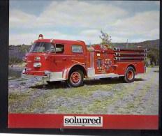 """Pompier / Publicité Pharmaceutique """" Solupred """" / Voiture à Pompe,série 900  USA N° 8 - Publicités"""