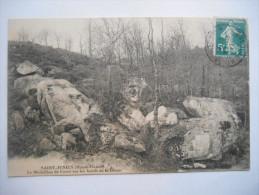 """CPA """"Saint Junien - Le m�daillon de Corot sur les bords de la Glane"""""""
