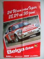 Affiche / Poster 24 UREN van IEPER 28,29,30 juni [1985] Porsche 911 Sc Rs (Droogmans?) BELGA team RAS sport