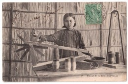 Travail De La Soie - La Fileuse - édit. Planté 114 + Verso - Vietnam
