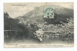 CPA MONACO Le Palais Du Prince Le Port Et La Tête De Chien Pour Honot à St Amé Vosges 88 - Monaco