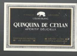 ETIQUETTE -  QUINQUINA DE CEYLAN -  TBE - Etiquetas