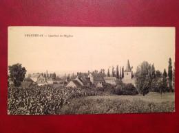 71 Saone Et Loire Cpa  CHAUDENAY Quartier De L'Eglise - France