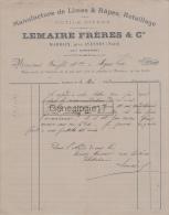59 3397 MARBAIX Pres AVESNES NORD 1898 Manufacture De Limes Rapes LEMAIRE FRERES à BONFILS En Gare De DOMPIERRE - France