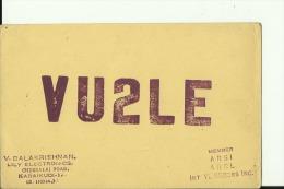 QSL CARD  --  INDIA  --  1965 - QSL-Karten