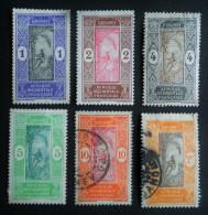 EMISSIONS 1913/17 - OBLITERES - YT 43/47 + 58 - MI 42/46 + 56 - Dahome (1899-1944)