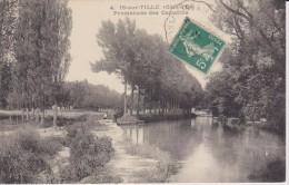 COTE D�OR - 4 - IS sur TILLE - Promenade des Capucins  ( - petite animation - timbre � date de 1914 )