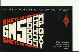 QSL CARD  --  SHETLAND ISLANDS - QSL-Karten