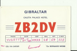 QSL CARD  --  GIBRALTAR - QSL-Karten