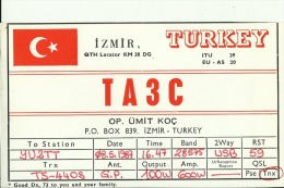 QSL CARD  --  TURKEY - QSL-Karten