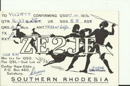 QSL CARD  --  SOUTHERN RHODESIA - QSL-Karten