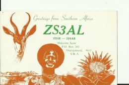 QSL CARD  --  NAMIBIA  --  ORANJEMUND - QSL-Karten