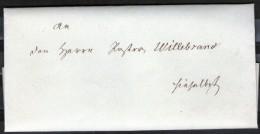 Altbrief Kirchenbrief 1868 Aus Hagenow An Pastor Willebrand Ohne Postalische Vermerke - Deutschland