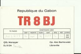 QSL CARD  --  GABON - QSL-Karten
