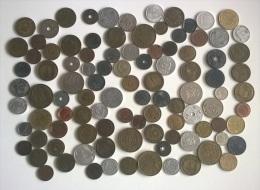 Numismatique - A695 - Lot Vrac  100 Pièces Origines Diverses  ( Type, Nature, Valeur, état... Voir  Scan) - Münzen & Banknoten