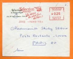 PARIS  LA REVUE LA PLUS LUE DE  FRANCE   1960 Devant De Lettre N° EMA 2531 - Freistempel