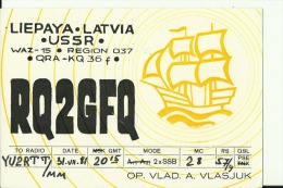 QSL CARD  --  LATVIA  --  LIEPAYA  --  USSR  --  1981 - QSL-Karten