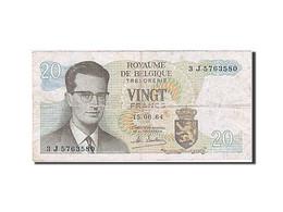 Belgique, 20 Francs, 1964, KM:138, 1964-06-15, TB+ - [ 2] 1831-... : Royaume De Belgique