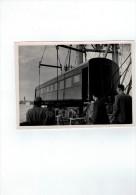 Antwerpen Haven :laden Treinwagons(fotokaart 18cmx12,5cm ) Copyright Frans Claes Nr 1178/53 - Antwerpen