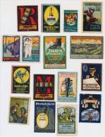 ALLEMAGNE - Lot 16 Vignettes Publicitaires, Industrie, Objets Manufacturés... Bon état D´ensemble. - Usines & Industries