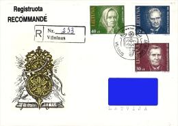 Lithuania Litauen Lituanie 1995 (07) Personalities (addressed FDC)