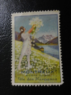 MONTREUX  Fete Des Narcisses Flora Flower Vignette Poster Stamp Label Suisse Switzerland - Suisse