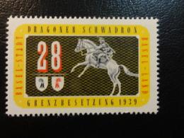 DRAGONER SCHWADRON BASSEL 1939 Soldatenmarken Militar Stamp Label Poster Stamp Vignette Suisse Switzerland - Viñetas