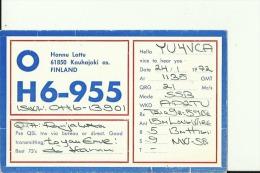 QSL CARD   --  FINLAND  --  1972 - QSL-Karten