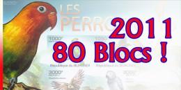 Burundi Superbe lot de 40 blocs dentel�s et non dentel�s / 40 Getand + 40 Ongetand luxe qualiteit / Nombreux th�mes