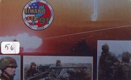 Télécarte JAPON * WAR TANK (156) MILITAIRY LEGER ARMEE PANZER Char De Guerre * KRIEG * JAPAN Phonecard Army - Armée