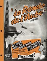 "FICHE TECHIQUE - PUBLICITE Du FILM  "" LA  RONDE  DE  L'AUBE ""  Rock Hudson, Robert Stack, Dorothy Malone - Pubblicitari"