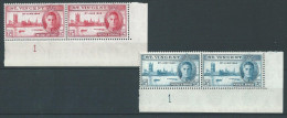 St. Vincent 1946 Peace Issue In Matching Plate Blocks, MH (*) - St.Vincent (...-1979)
