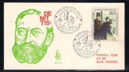 ITALIE 1984 FDC 25.1.1984 YT 1601 Barletta Guiseppe De Nittis Centenario Cella Morte Le Corse Al Bois De Boulogne - Cartes-Maximum (CM)