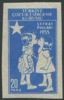 TÜRKEI / Zwangszuschlagsmarke C MiNr. 185 / Kinderhilfe / Geschnitten Mit Fehlendem Roten Stern Mit Halbmond / ** - 1921-... Republik