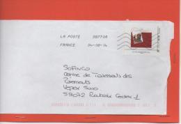 TIMBRE   20 GRS  SUR LETTRE DON DU SANG - France