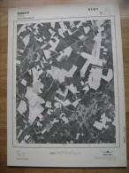 GRAND PHOTO VUE AERIENNE 66 Cm X 48 Cm De 1981  QUEVY HAVAY - Cartes Topographiques